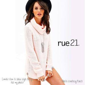 Rue 21 cowl open knit tunic length sweater dress